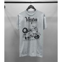 T-shirt Vespa Jadul M-L/ Baju Kaos Distro Pria Wanita Cotton 30s