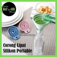 Corong Air Minyak Silikon/Corong Lipat Silicone/Corong Lipat Portable