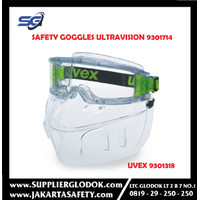 UVEX Safety Goggles Ultravision 9301714 & UVEX Faceguard 9301318