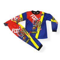 setelan baju cross jersey anak setelan baju balap cross size 1-12thn