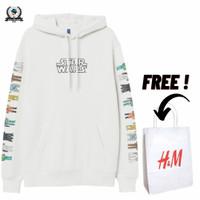 Hoodie H&M Star Wars Bordir White Full Tag Free Paper Bag - Putih, M