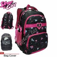 Tas Ransel SILVER GIRL ALTO IMPORT Backpack Laptop Sekolah Perempuan