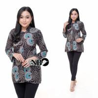 Atasan Baju Batik Wanita Kerja Blouse Batik Wanita Modern - Gambar 5, M