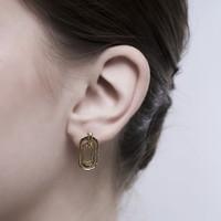 Maya - Anting Studs Perak 925 Silver 18k Gold Plated Earring