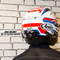 Helm Motor ARAI RX-7X Scope White Full Face Helmets Original Touring