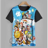 Kaos anak baju anak Anime Jepang One Piece Anak Umur 1-12 tahun - 1-2 tahun