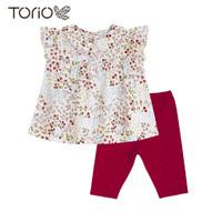 TORIO Legging Set Little Flowers - Baju Setelan Anak Perempuan