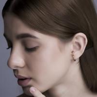 Twist - Anting Perak 925 Silver 18k Gold Plated Earring