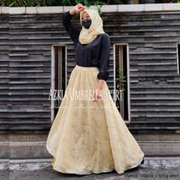 Rok Panjang Wanita Muslim Model Payung Azkia Organdi FREE HIJAB
