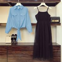 Setelan dress tutu ozawa - Biru