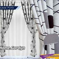 gorden jendela minimalis bahan blekaut acacia - Abu-abu, T100X1500