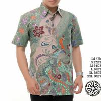 Baju kemeja batik pria lengan pendek batik modern ZQ1