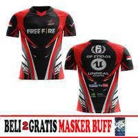 T Shirt/Baju/Kaos Jersey FREE FIRE Esport Gaming Custom terbaru art 2