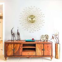 Jam Dinding Logam Diameter 60 cm Jam Kreatif Sederhana Besi Gaya Eropa