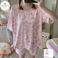 Baju Tidur Set Hello Kitty Sanrio Piyama Set Wanita