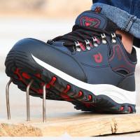 Sepatu safety pria big size sneakers sporty trendy ringan fashionable