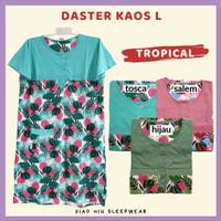 Daster Kaos Kancing All Size Fit L / Baju Tidur Wanita
