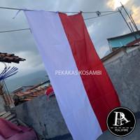 Bendera merah putih bahan kain ukuran 120