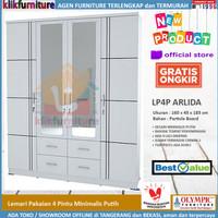 Lemari Pakaian 4 Pintu Minimalis Putih LP4P ARLIDA Olympic
