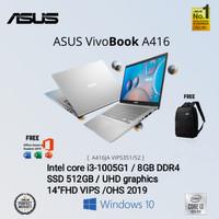 ASUS A416JA i3-1005G1/8GB/SSD 512GB/14/WIN 10/OHS 2019/BACKLIGHT