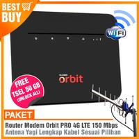 PAKET MODEM ORBIT PRO Router WIFI 4G & Antena Yagi Grid Extreme Gain