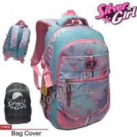 tas ransel backpack sekolah leptop alto silver girl import