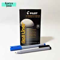 Pilot Ball Liner 0.8mm Grosir   Pulpen Tanda Tangan   Warna Hitam/Biru