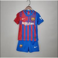 Jersey Baju Bola Anak anak Barca Home 2021/2022 Go Impor Premium