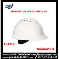 Safety Helmet 3M H-701V Hard Hat,Vented White 4Pt Ratchet-7000002418
