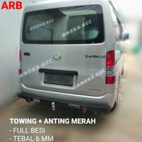 TOWING BAR ARB PENGAMAN BEMPER BELAKANG ARB MOBIL + ANTING MERAH - grand max/luxio