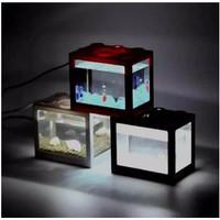 AKUARIUM AKRILIK AQUARIUM MINI ACRYLIC LEGO USB LED