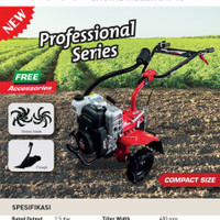 Mesin Bajak Ladang / Mesin Traktor Mini Tasco BK 40 Tiler Tanah Kering