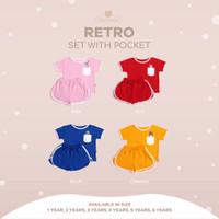 Forbear Pocket Retro set - setelan kantong retro baju anak