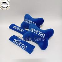 Bantal Mobil 2in1 Sparco Biru Universal