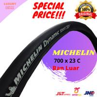 Michelin Dynamic Sport Ban Luar Sepeda 700 x 23 C Hitam