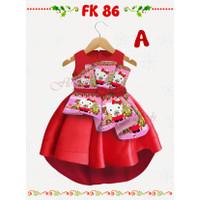 9M - HELLO KITTY BAJU DRESS BABY CEWEK FLOKIDS FK86A
