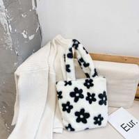 flower furry bag