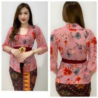 Kebaya Sifon Print Tangan Lonceng/Kebaya Wanita Bali/Baju Kebaya Jadi