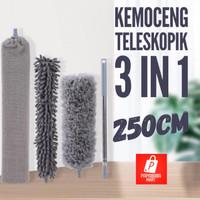 Kemoceng Tarik Pembersih Debu Teleskopik Microfiber 250 CM / 3 IN 1