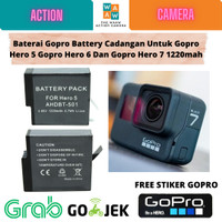Baterai Gopro Battery Cadangan Untuk Gopro Hero 5/6/7 1220mah
