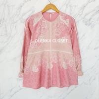 Atasan Batik Dobby 71 Pink Baju blouse batik wanita modern