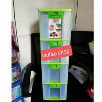 Pressa Rak CD Susun 4 XL4 PR24 Lion Star Box Container Laci Kotak Obat