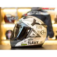 Helm Motor ARAI Vector-X Navy White Full Face Helmets Original Touring