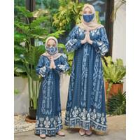 Gamis couple Ibu dan Anak Perempuan Baju Lebaran Keluarga Hasanah Set