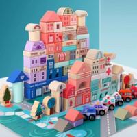 Mainan Balok Susun / Mainan kayu masa kini KIDS PLAY/ TERMURAH PROMO