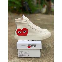 Sepatu Kasual Converse 70s CDG PLAY High White Premium - 37