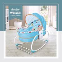 Cocolatte Weeler 5in1 Rocker Bassinet / Ayunan dan Tempat Tidur Bayi - Biru