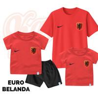 Setelan Baju Kaos Sepak Bola Euro Timnas Belanda Bayi Sampai Remaja