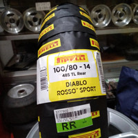 BAN MOTOR PIRELLI DIABLO ROSSO SPORT UKURAN 100/80-14 TUBELES