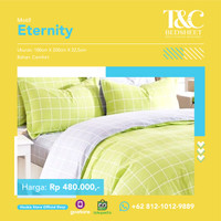 Bed Cover Set T&C Bed Sheet Eternity Lime